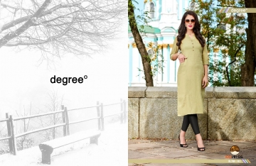 100 MILES BY DEGREE CATALOGUE LINEN COTTON DESIGNER PLAIN KURTI COLLECTION WHOLESALE SURAT 01