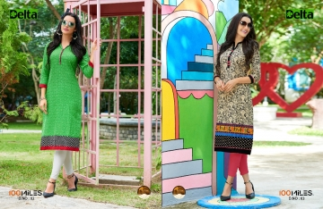 100 MILES DELTA COTTON DESIGNER KURTI COLLECTION WHOLESALE ONLINE SURAT 2-3