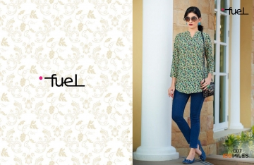 100 MILES FUEL 2 FANCY FABRICS KURTI WHOLESALE SURAT 07