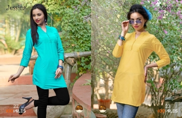 100 MILES JESSICA VOL 3 COTTON KURTI WHOLESALE SURAT ONLINE 22-23