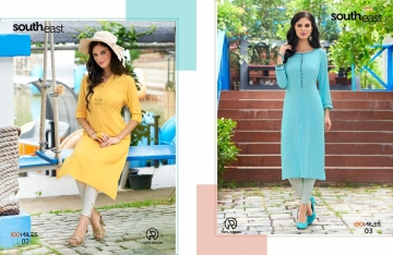 100 MILES SOUTH EAST RAYON DESIGNER KURTI WHOLESALE SURAT 02-03