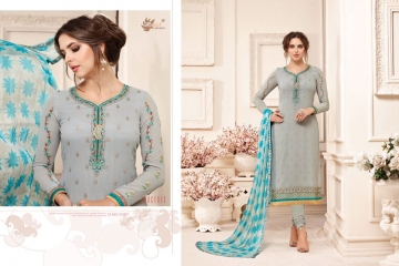 AADESH NX QUEEN VOL 11 GEORGETTE STRAIGHT EMBROIDERY SUITS 11007