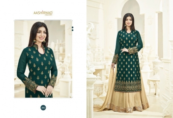 AASHIRWAD CREATION SAANVI SUITS CATALOG WHOLESALE DEALER 2002
