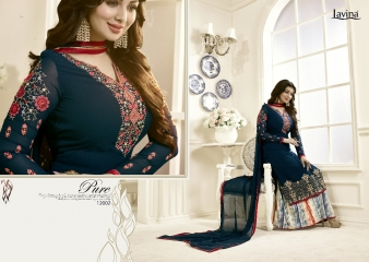 AAYESHA BY LAVINA VOL 12 GEORGETTE EMBROIDERED SALWAR KAMEEZ WHOLESALER SURAT 12002 B