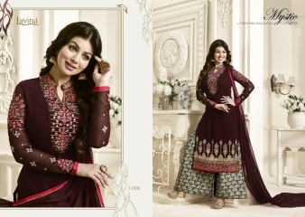 AAYESHA BY LAVINA VOL 12 GEORGETTE EMBROIDERED SALWAR KAMEEZ WHOLESALER SURAT 12006 A