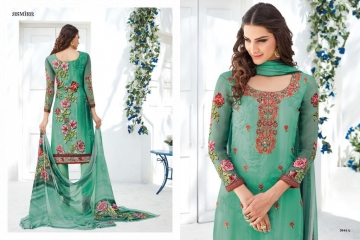 ASMIRA MYRA BY JINAAM DRESS PVT GEORGETTE PRINTS CASUAL WEAR SALWAR KAMEEZ WHOLESALE SURAT 3044 A1