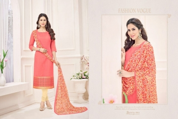 AVC POCHAMPALLY SILK BANARSI JEQUARD SUITS WHOLESALER SURAT 5011
