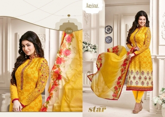 AYESHA BY LAVINA VOL 11 CRAPE EMBROIDERED 11002