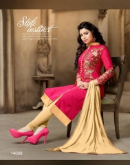 BINDIYA CHANDERI COTTON SALWAR KAMEEZ WHOLESALE SURAT 14008
