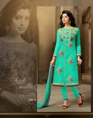 BINDIYA CHANDERI COTTON SALWAR KAMEEZ WHOLESALE SURAT 14016