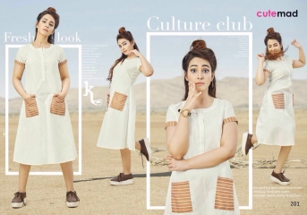 CUTEMAD CLOUD 9 VOL 2 BLENDED COTTON KURTI COLLECTION WHOLESALE 201