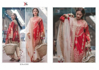 DEEPSY SUITS CARNATION COTTON EMBROIDERED COLLECTION WHOLESALE 65003