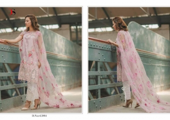 DEEPSY SUITS CARNATION COTTON EMBROIDERED COLLECTION WHOLESALE 65004