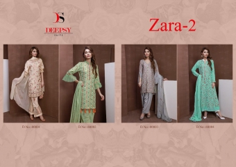 DEEPYS ZARA VOL 2 CATALOGUE WHOLESALE PAKISTANI STYLE SALWAR KAMEEZ SURAT T