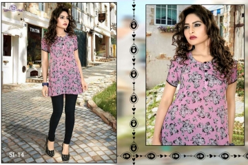 DIVA DESIGN SIRIN GEORGETTE & SATIN KURTI WHOLESALE SURAT DEALER 14