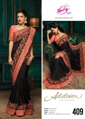 FAIRY FASHIONS ADDAIEN SILK SAREES COLLECTION WHOLEASALE SURAT 409