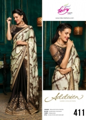FAIRY FASHIONS ADDAIEN SILK SAREES COLLECTION WHOLEASALE SURAT 411