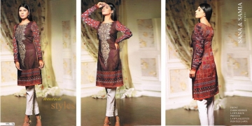 FASHION TRACK BY SANA SAMIA PAKISTANI STYLE KURTI COLLECTION WHOLESALE PRICE SURAT 09