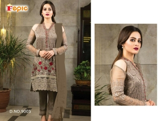 FEPIC ROSEMEEN FORTUNA GEORGETTE SUITS EXPORTER SURAT 9005
