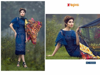 FEPIC ROSEMEEN PRIDE CATALOG GEORGETTE EMBROIDERED PAKISTANI STYLE WHOLESALE 15000