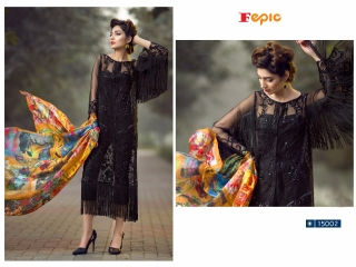 FEPIC ROSEMEEN PRIDE CATALOG GEORGETTE EMBROIDERED PAKISTANI STYLE WHOLESALE 15002