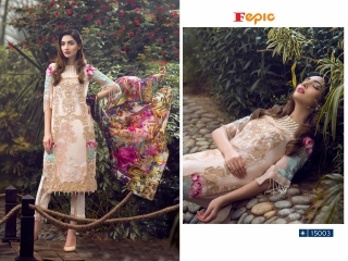 FEPIC ROSEMEEN PRIDE CATALOG GEORGETTE EMBROIDERED PAKISTANI STYLE WHOLESALE 15003