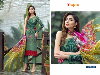 FEPIC ROSEMEEN PRIDE CATALOG GEORGETTE EMBROIDERED PAKISTANI STYLE WHOLESALE 15005