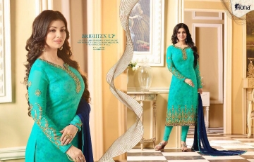 FIONA AYESHA TAKIA VOL 14 GEORGETTE EMBROIDERED SUITS EXPORTER 21235