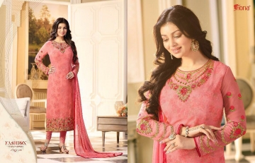 FIONA AYESHA TAKIA VOL 14 GEORGETTE EMBROIDERED SUITS EXPORTER 21236
