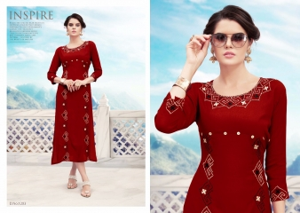 FLORENCE VOL 2 RAYON KURTI WHOLESALE PRICE 1203