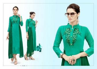 FLORY BY IRIS GEORGETTE EMBROIDERED KURTI DIWALI FESTIVAL COLLECTION WHOLESALE 801