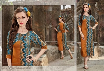 FOUR BUTTONS HAZEL RAYON KURTI WHOLESALE PRICE 3