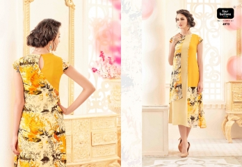 FOUR BUTTONS VERVE TRENDY PRINTS KURTIS WHOLESALE EXPORTER SURAT 4070