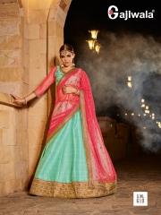 GAJIWALA EVA DESIGNER LEHENGA COLLECTION EXPORTER SURAT 610