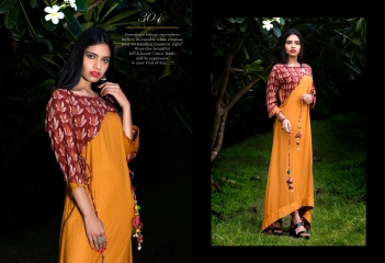 GALLBERRY BY MODERN ERA LONG KURTIS PARTY WEAR COLLECTION WHOLESALE PRICE 304