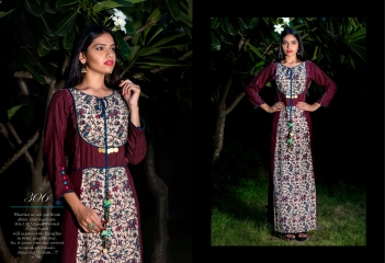 GALLBERRY BY MODERN ERA LONG KURTIS PARTY WEAR COLLECTION WHOLESALE PRICE 306