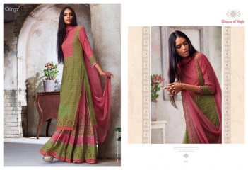 GANGA GLIMPSE OF MAGIC PURE GEORGETTE SUITS WHOLESALE 4741