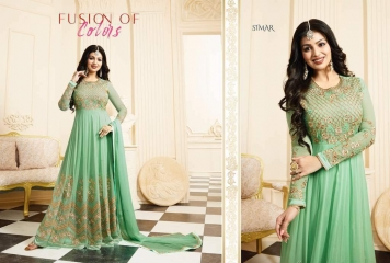GLOSSY SIMAR RAMAZAN EID SPECIAL SUITS COLLECTION WHOLESALE SURAT 17006 A