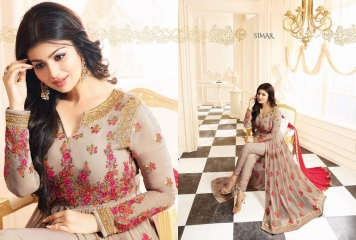 GLOSSY SIMAR RAMAZAN EID SPECIAL SUITS COLLECTION WHOLESALE SURAT 17007 B