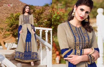 GULZAR BY CELEBRATION WEAR SILK DESIGNER SALWAR KEMEEZ EXPORTER SURAT 2005