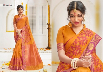 HANSIKA BY LIFESTYLE SILK SAREES CATALOGUE COLLECTION WHOLESALE SUPPLIER SURAT ONLINE 43207