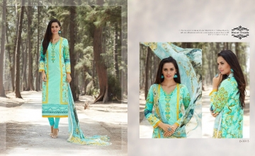 HAYAT TRENDZ MAYRA LAWN COTTON SUITS WHOLESALER SURAT 3013
