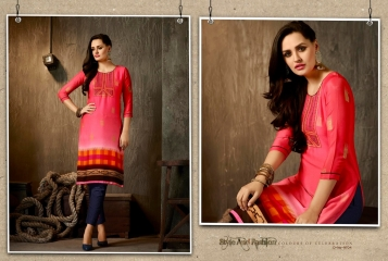 KAJREE FASHION OXYGEN VOL 2 RANGOLI GEORGETTE KURTI WHOLESALE 9704