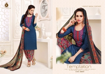 KALA FASHION ISHQBAAZ COTTON PRINT WITH EMBROIDERD SUITS ONLINE 82005