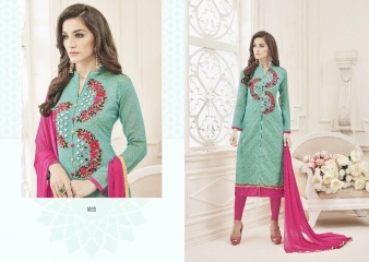 KALAPRIYA BY ROYAL PRINT CHANDERI DESIGNER EMBROIDERED 1003