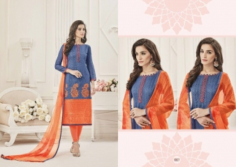 KALAPRIYA BY ROYAL PRINT CHANDERI DESIGNER EMBROIDERED 1007
