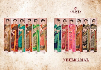 KALISTA FASHION NEELKAMAL SAREES COLLECTION WHOLESALE SURAT T