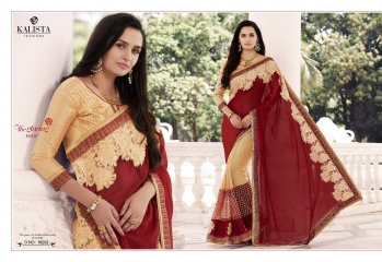 KALISTA FASHION QUEEN VOL 3 GEORGETTE SAREES SURAT ONLINE 18202