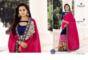 KALISTA FASHION QUEEN VOL 3 GEORGETTE SAREES SURAT ONLINE 18211