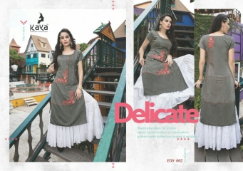KAYA EOS PURE DENIM DOOBY KURTI WHOLESALE DEALER 002